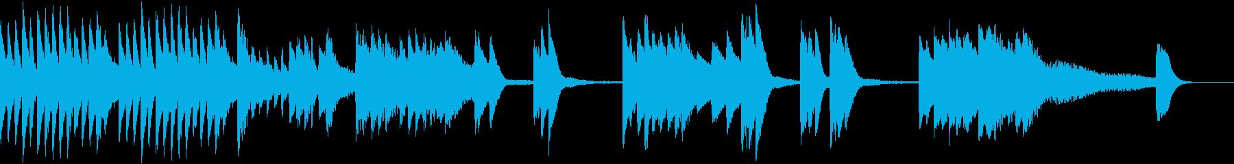 花火の燃える様を描いた夏のピアノジングルの再生済みの波形