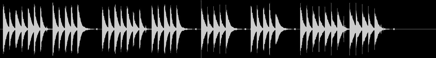 ほのぼのしてのんびりとした短い曲の未再生の波形