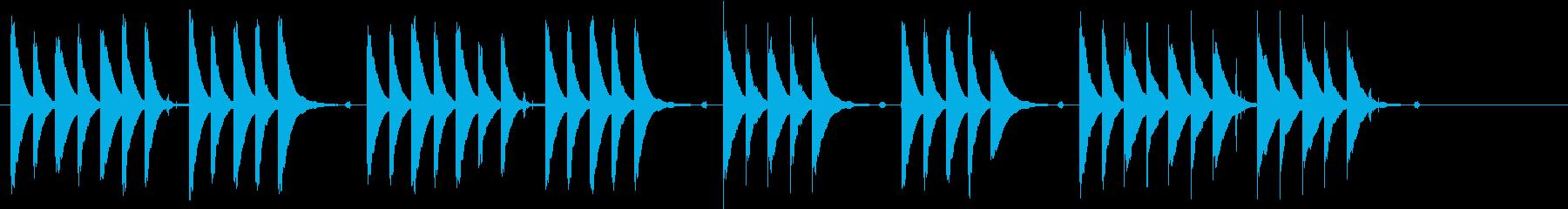 ほのぼのしてのんびりとした短い曲の再生済みの波形