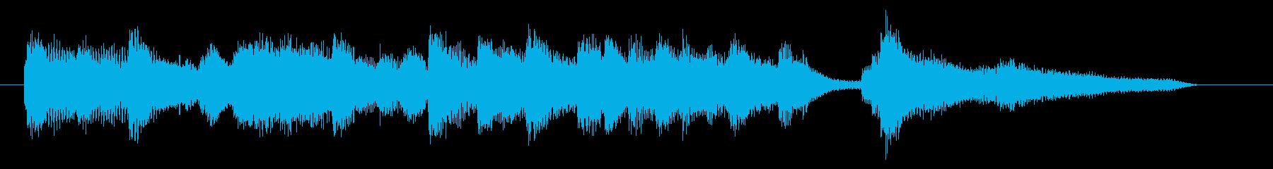 ジングル ピアノソロ さわやかバラードの再生済みの波形