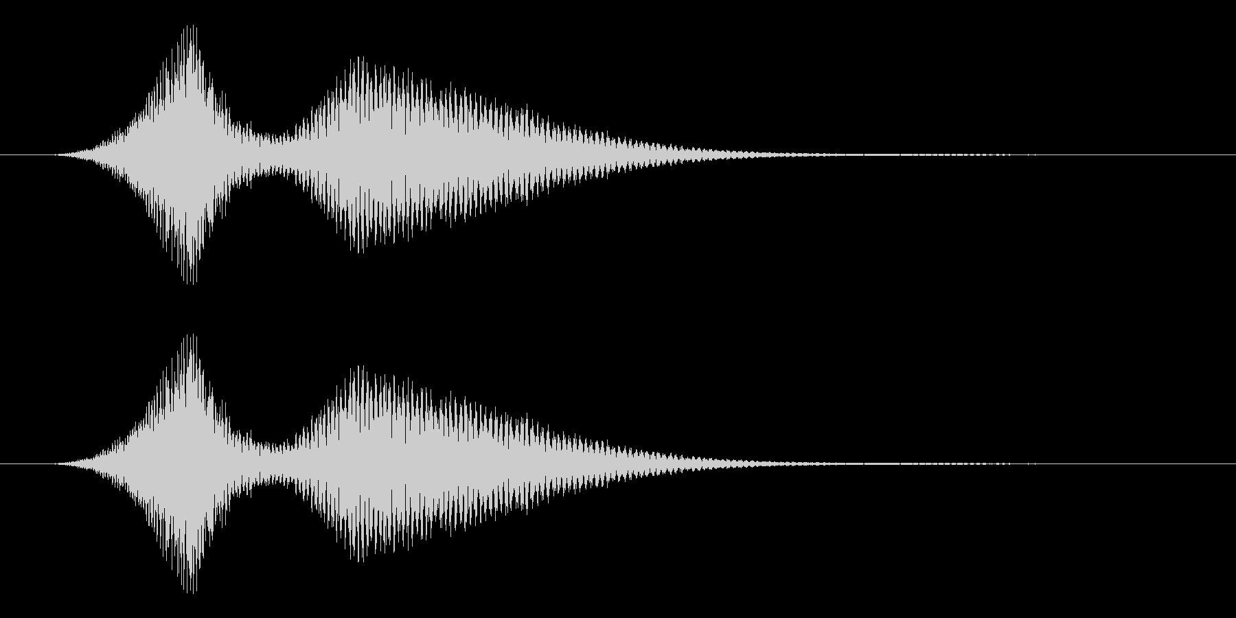 レトロゲームにありそうな空を切る音の未再生の波形
