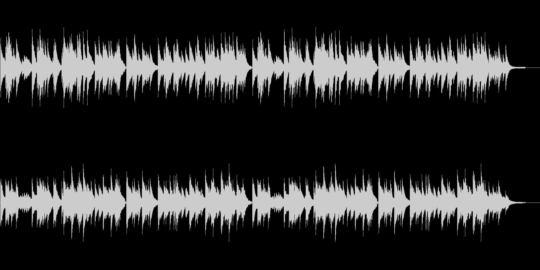 様々なシーンに映えるシンプルなピアノ曲の未再生の波形