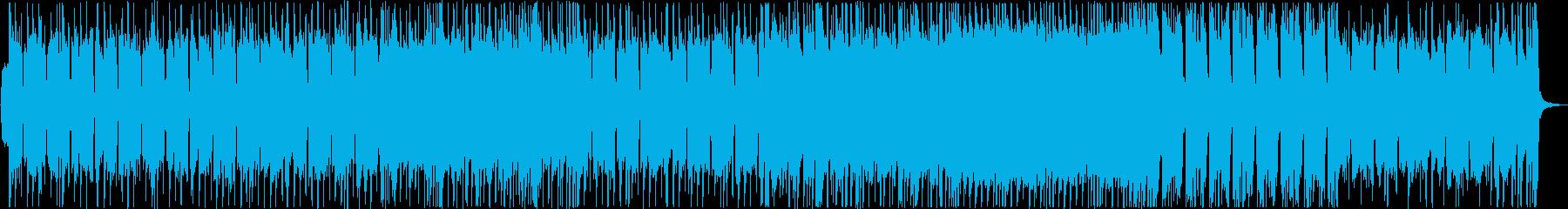 重低音が響きわたる男らしいメロディーの再生済みの波形