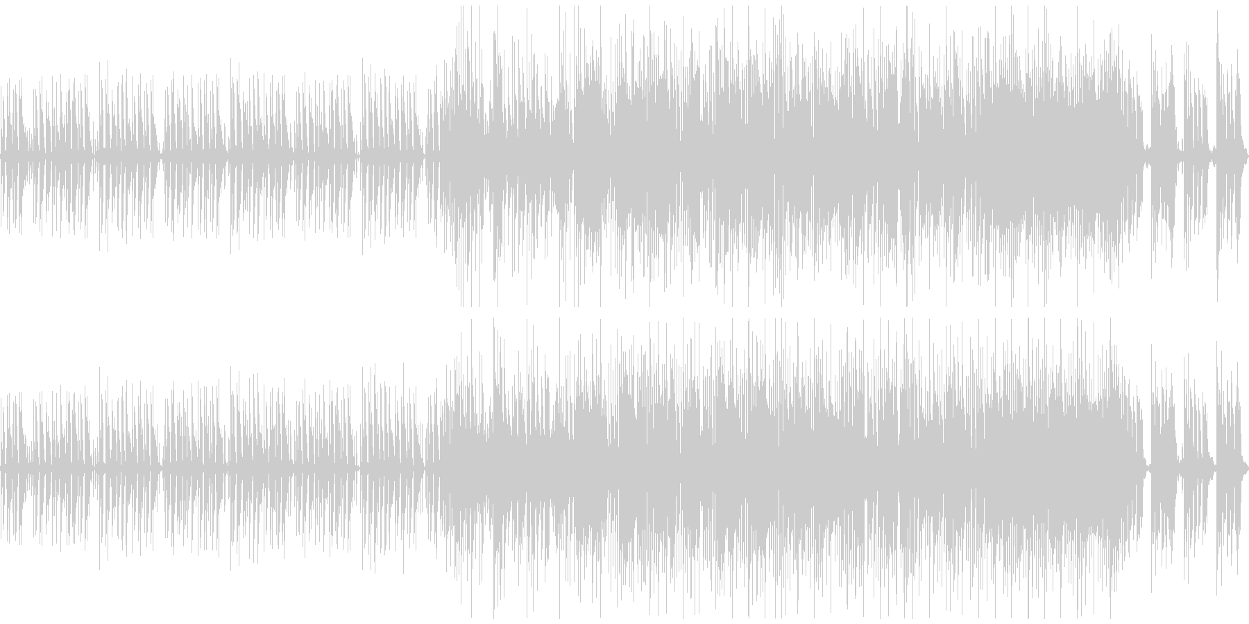 ほのぼの脱力系BGM・日常動画などの未再生の波形