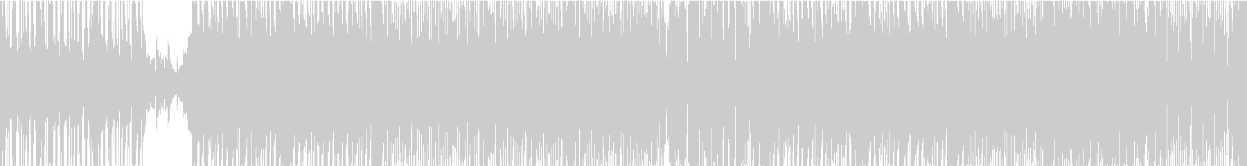 ピアノとギターの切ないフュージョン風の曲の未再生の波形