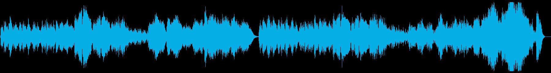 オーケストラのクラシックポップスの再生済みの波形