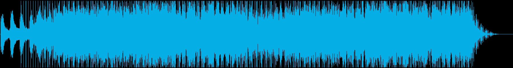神秘的な空間のイメージの再生済みの波形