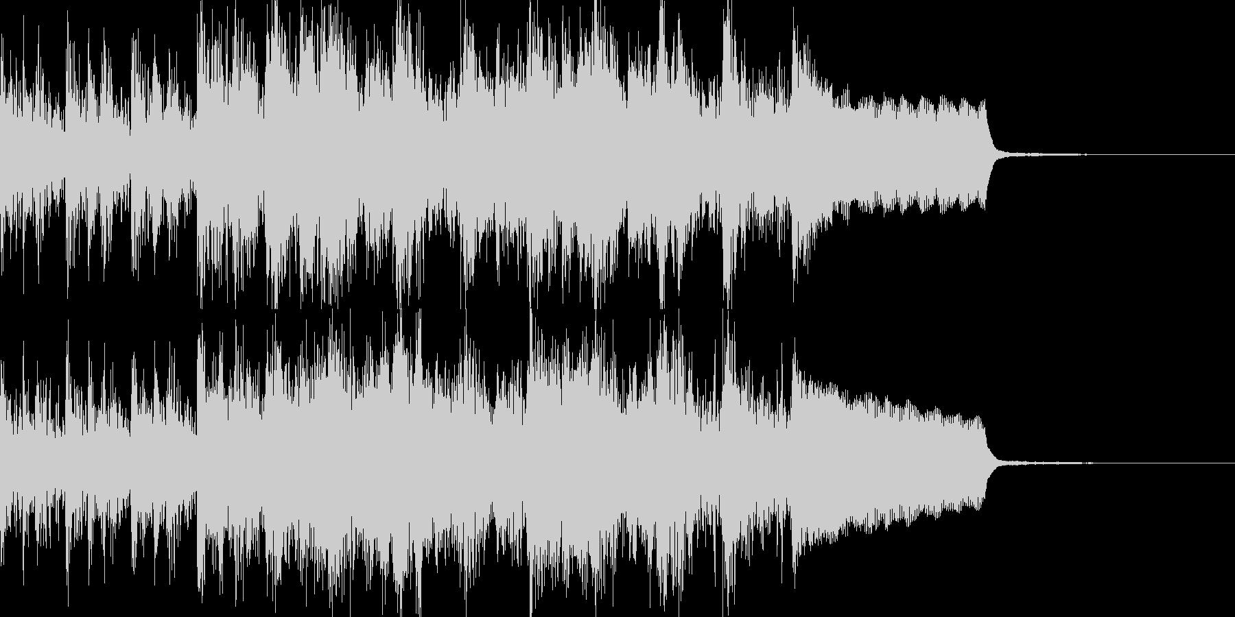 和太鼓、琴、笛で軽やかな和風ジングルの未再生の波形