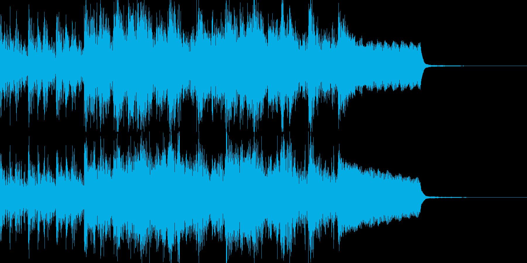 和太鼓、琴、笛で軽やかな和風ジングルの再生済みの波形
