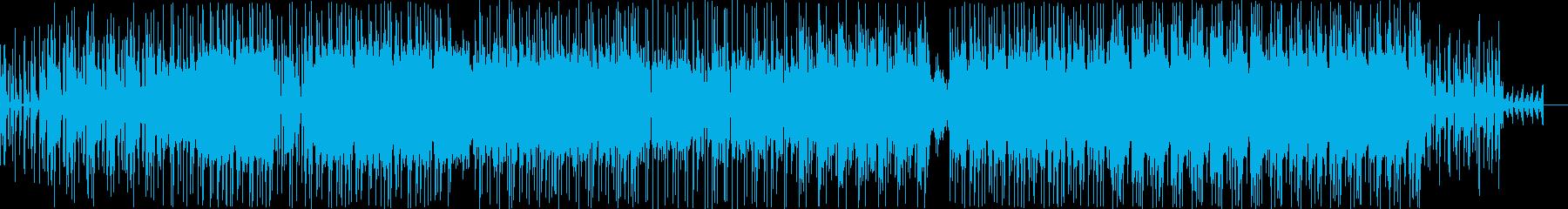 ミドルテンポでダークな雰囲気の楽曲の再生済みの波形