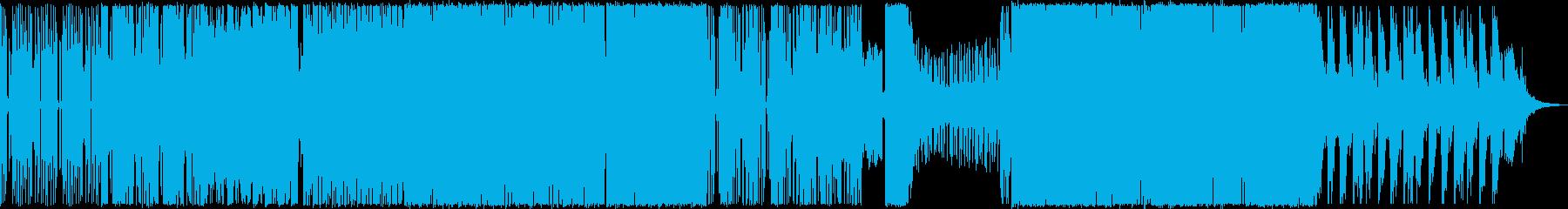 ダークなイメージのEDMの再生済みの波形