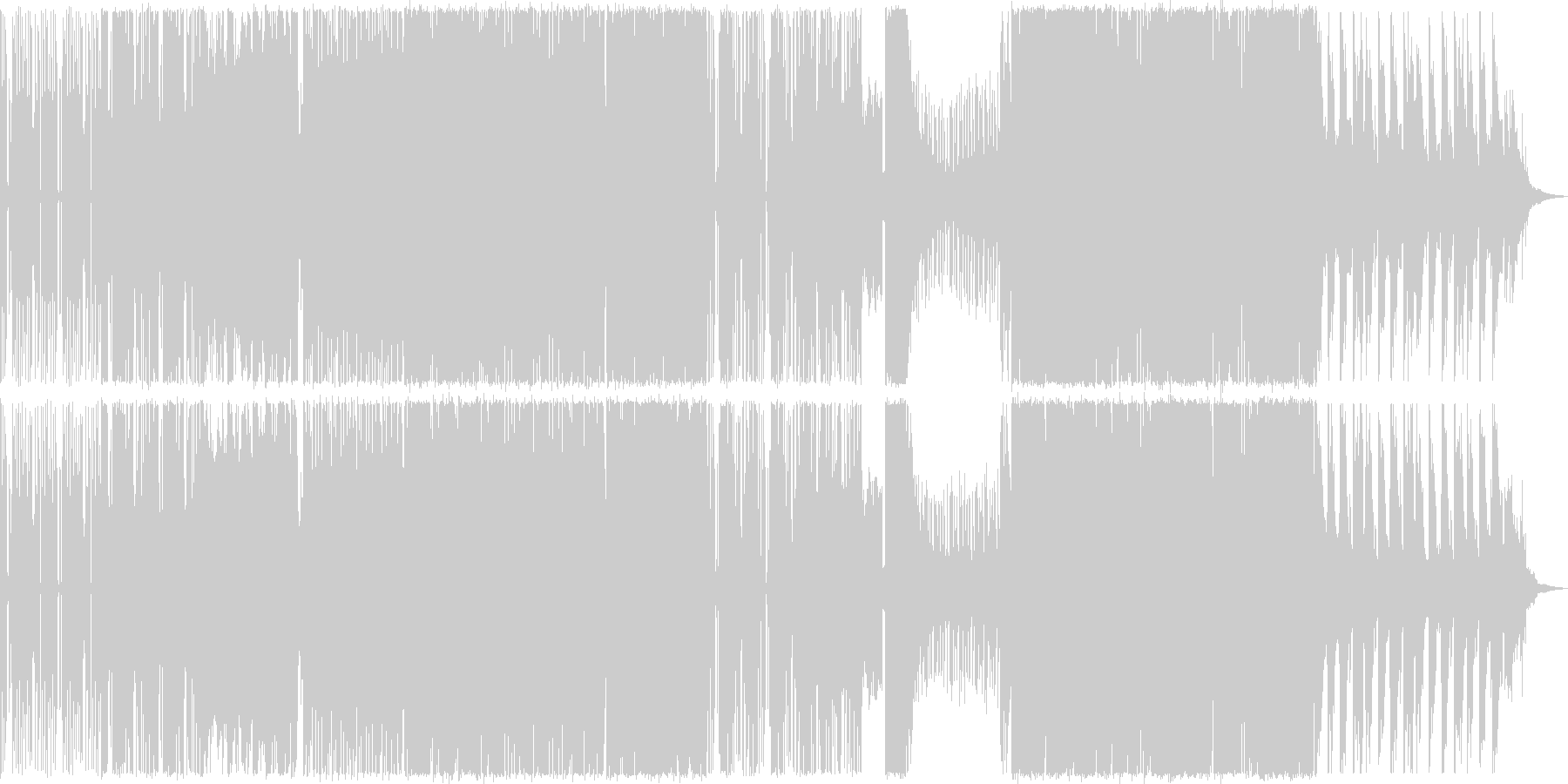 ダークなイメージのEDMの未再生の波形