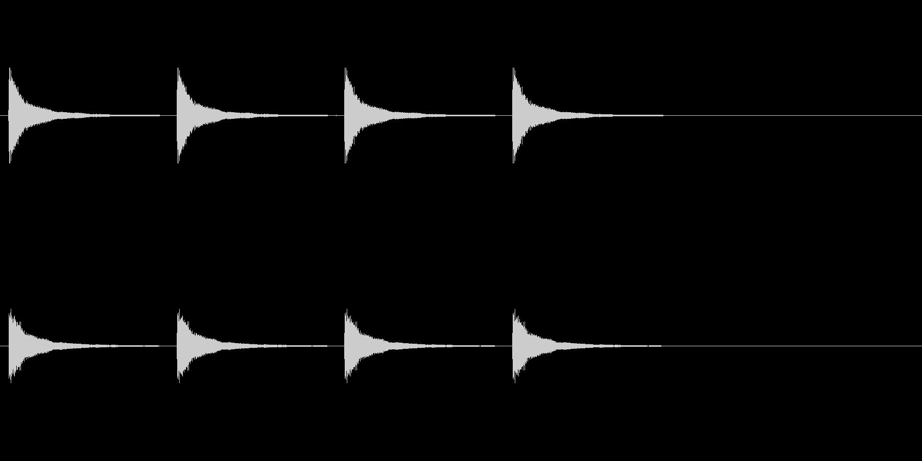 マントル時計料金の未再生の波形