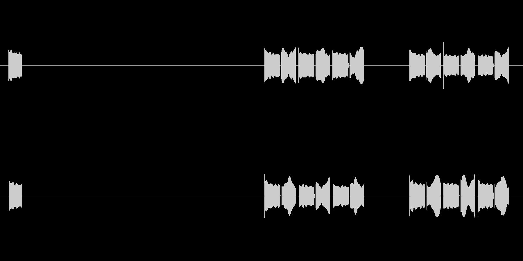 体温計01 電源入れてから測り終わるまでの未再生の波形