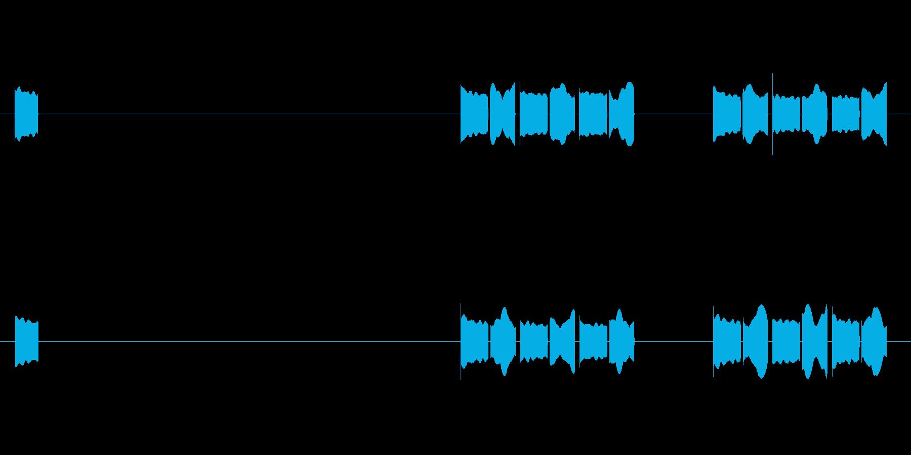 体温計01 電源入れてから測り終わるまでの再生済みの波形