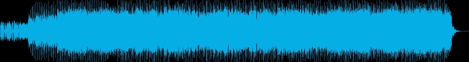 リフから始まるエレキギターのロックバンドの再生済みの波形