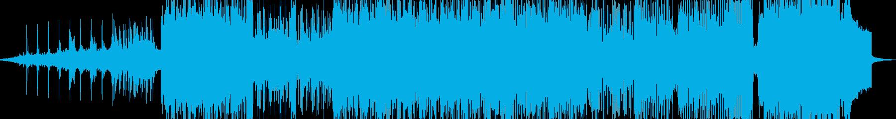 後戻り出来ない恐怖シーンのビッグビートの再生済みの波形