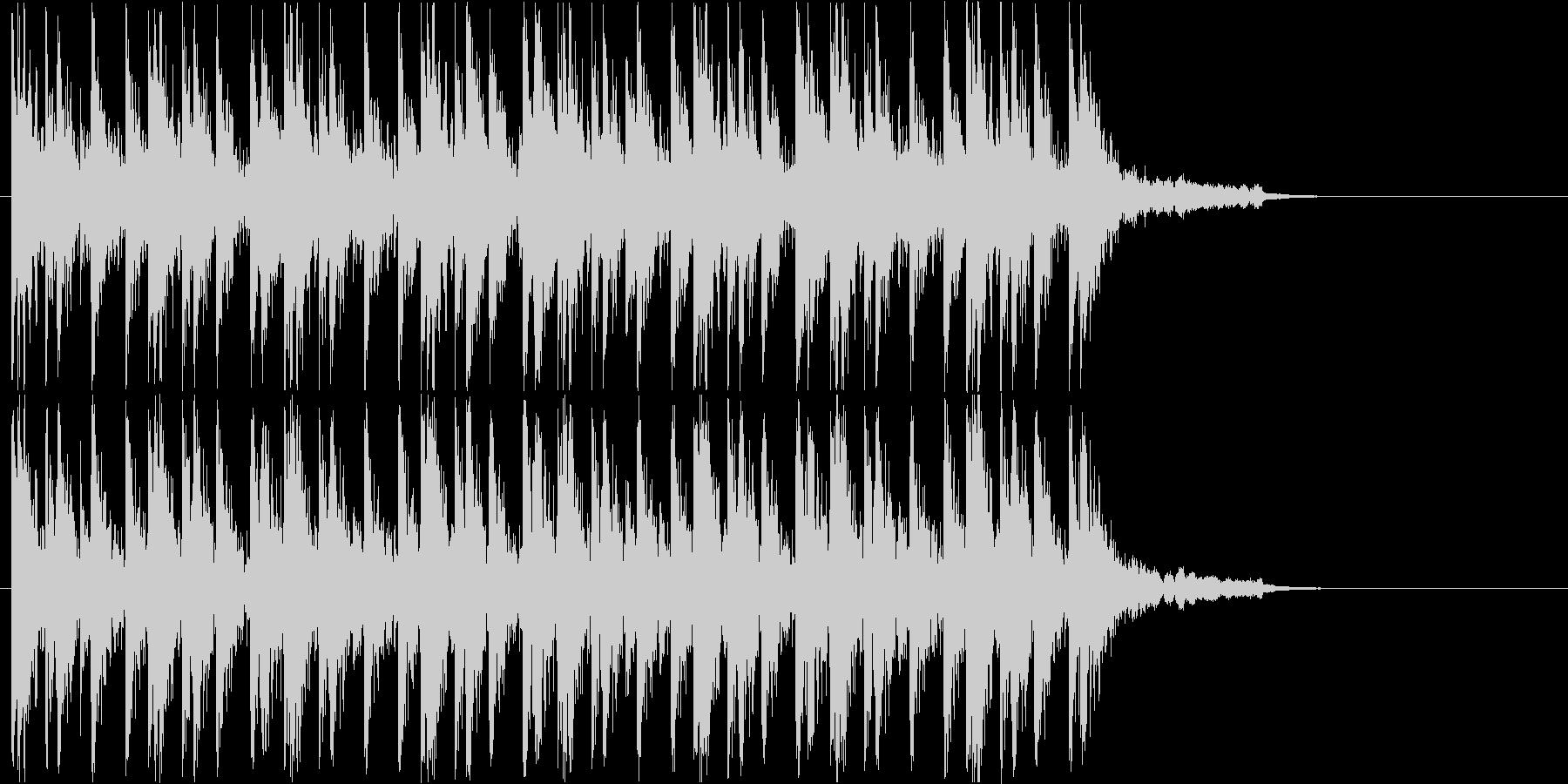 コミカルな和楽器のお囃子ジングルの未再生の波形