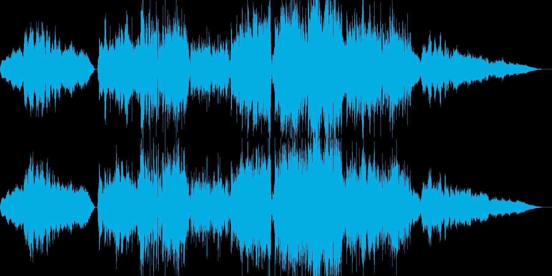 バイオリン旋律の温かく優しいバラードの再生済みの波形