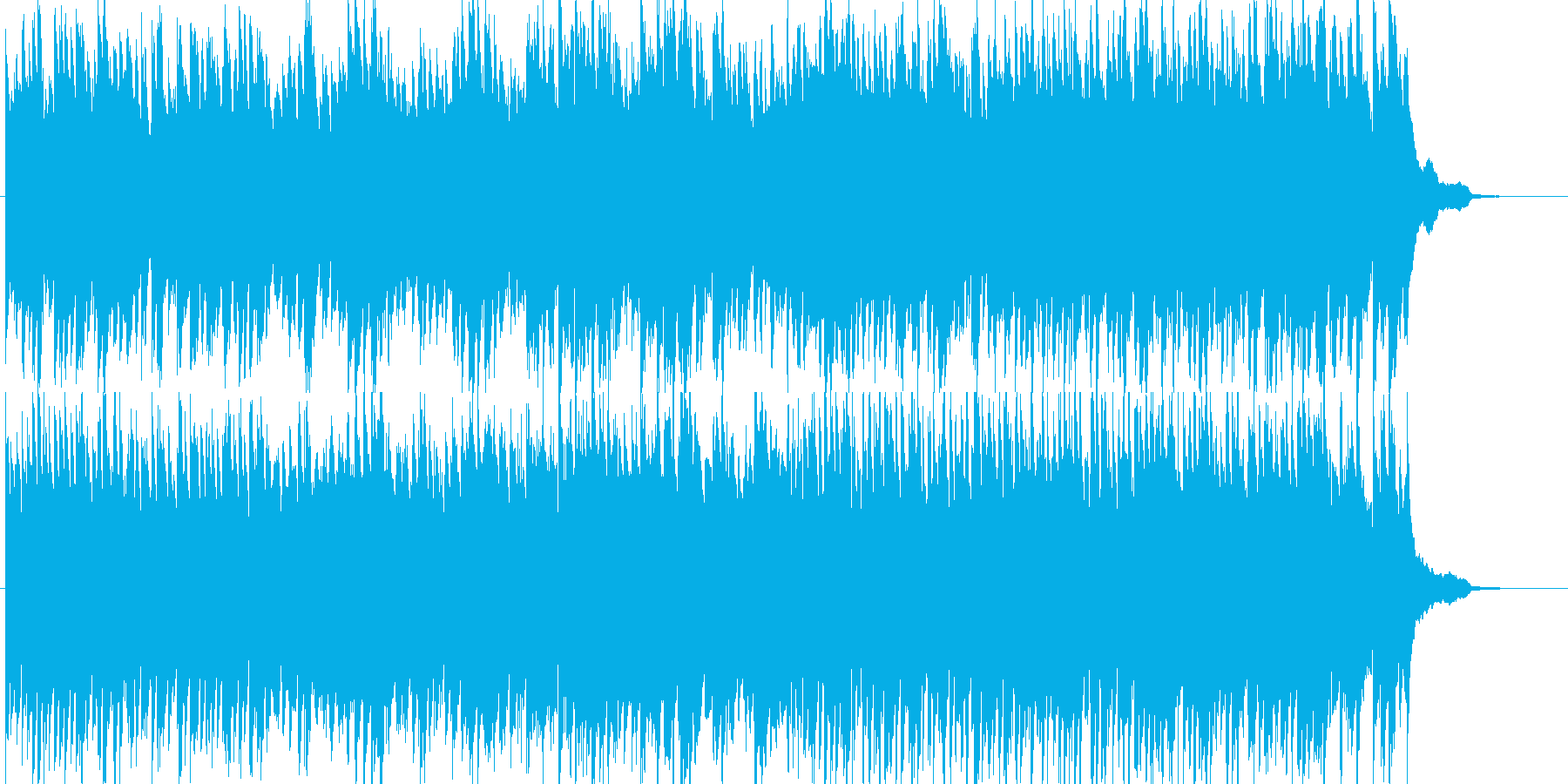 【映像作品用】シンプルなピアノと弦の曲 の再生済みの波形