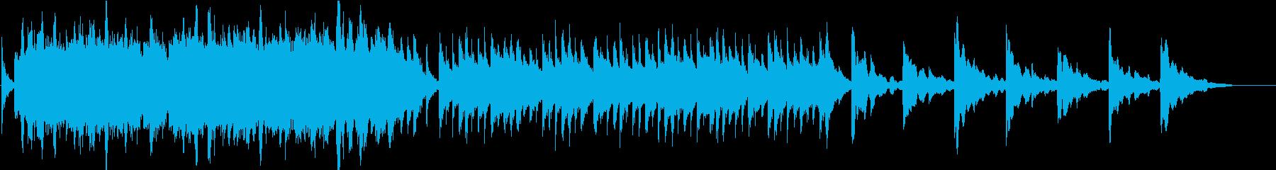 和風の優しく切ない曲ですの再生済みの波形