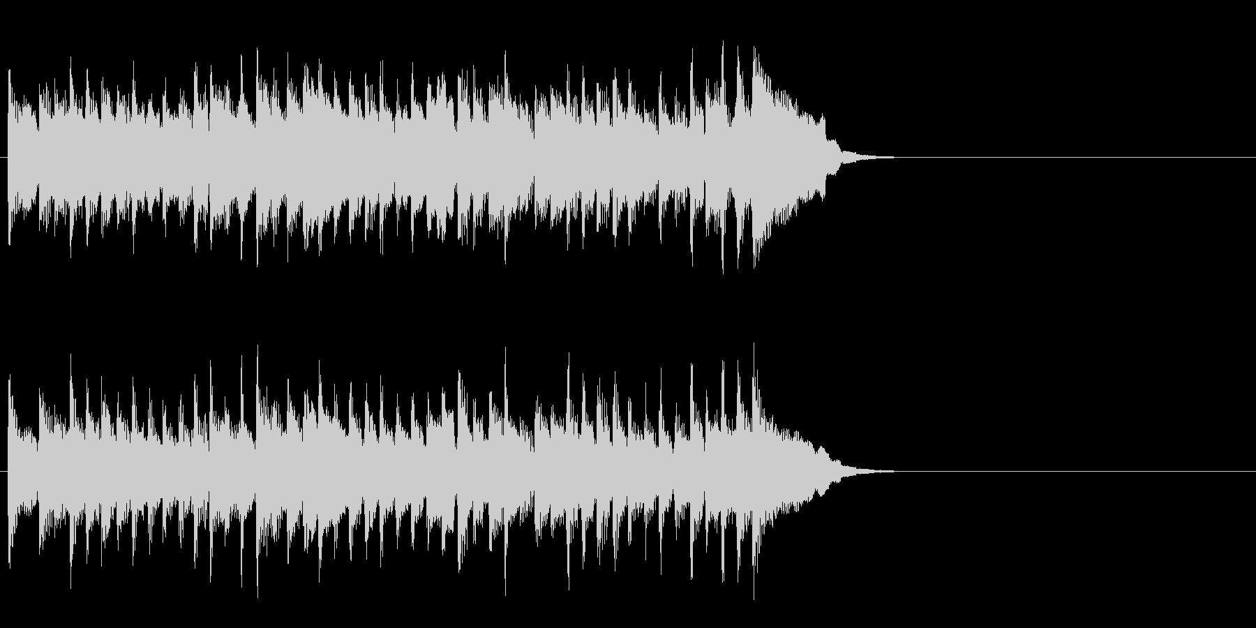 活力を与える暖かなポップ(イントロ)の未再生の波形