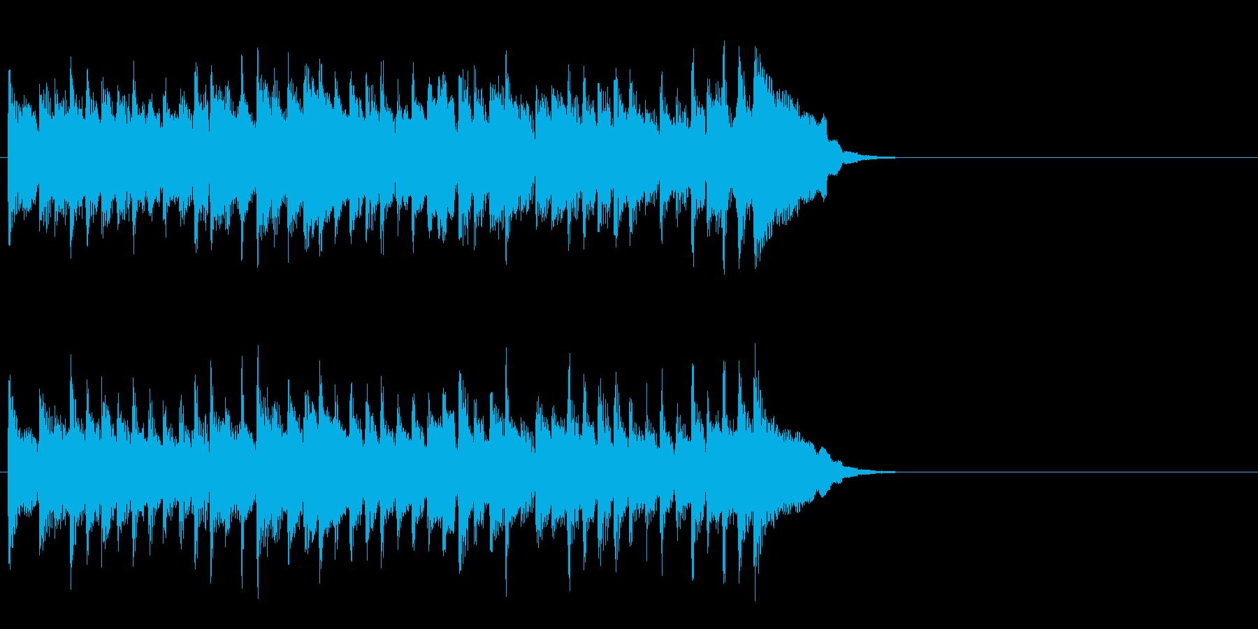 活力を与える暖かなポップ(イントロ)の再生済みの波形