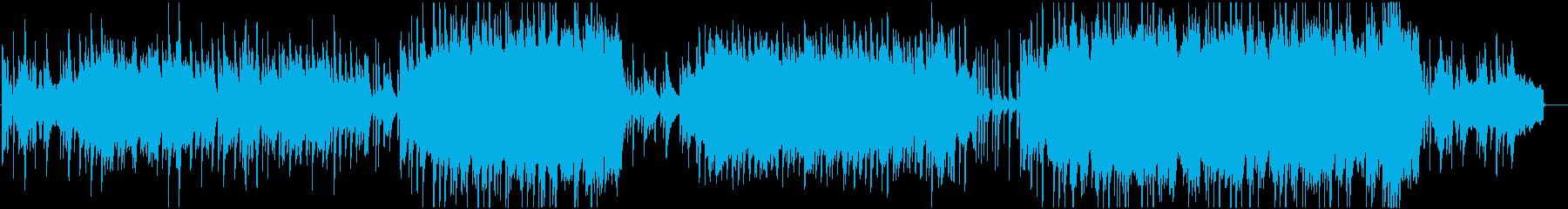 ピアノと弦楽器の寂しげなインスト曲の再生済みの波形