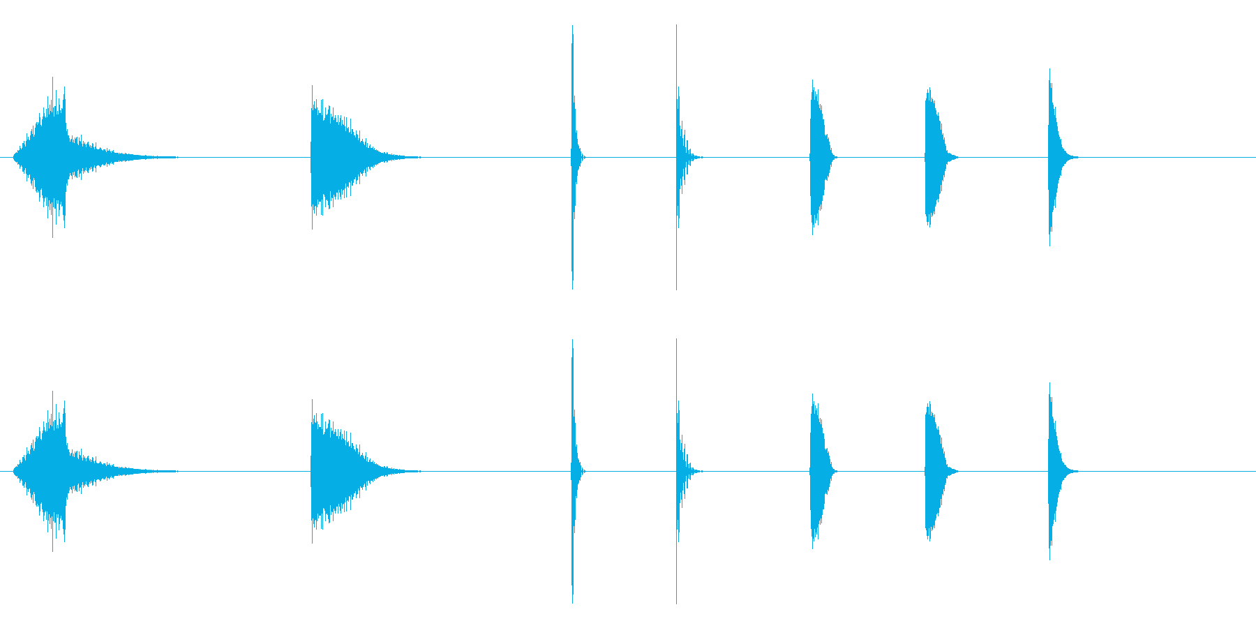 エスパシオ、エナジーアザップザップの再生済みの波形