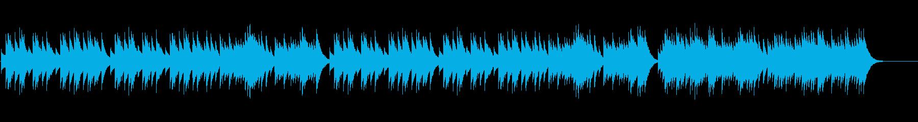 ゴシックな雰囲気の悲しいオルゴール曲の再生済みの波形