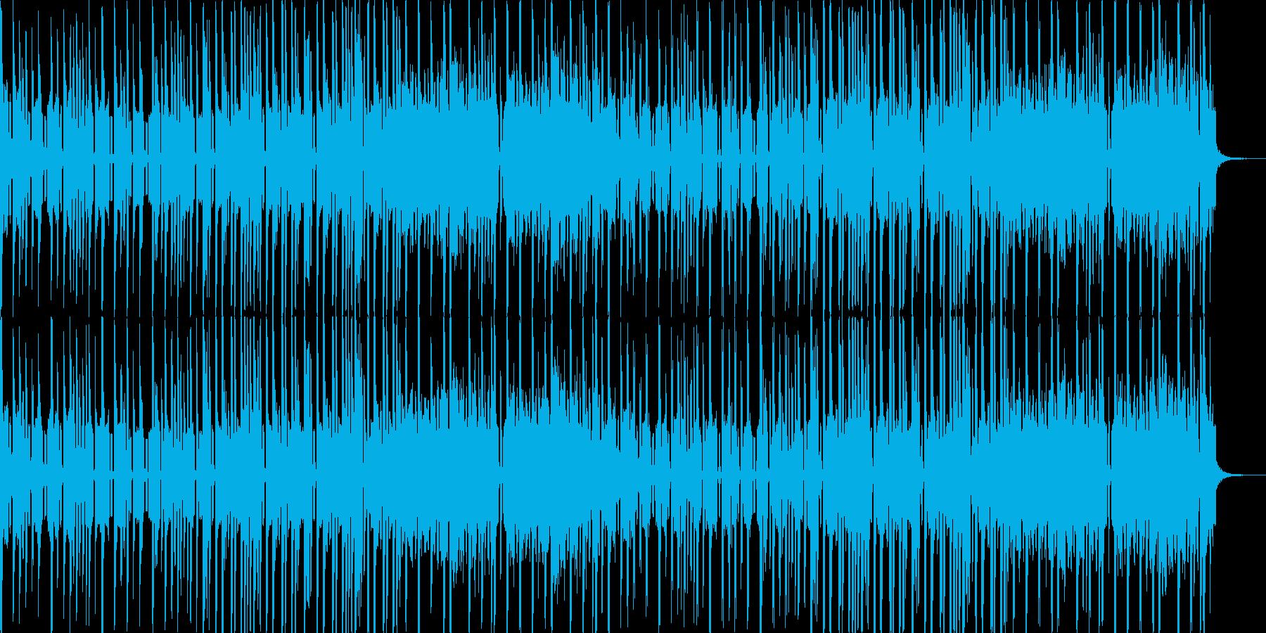 ちょっとファンキーな明るいポップスの再生済みの波形