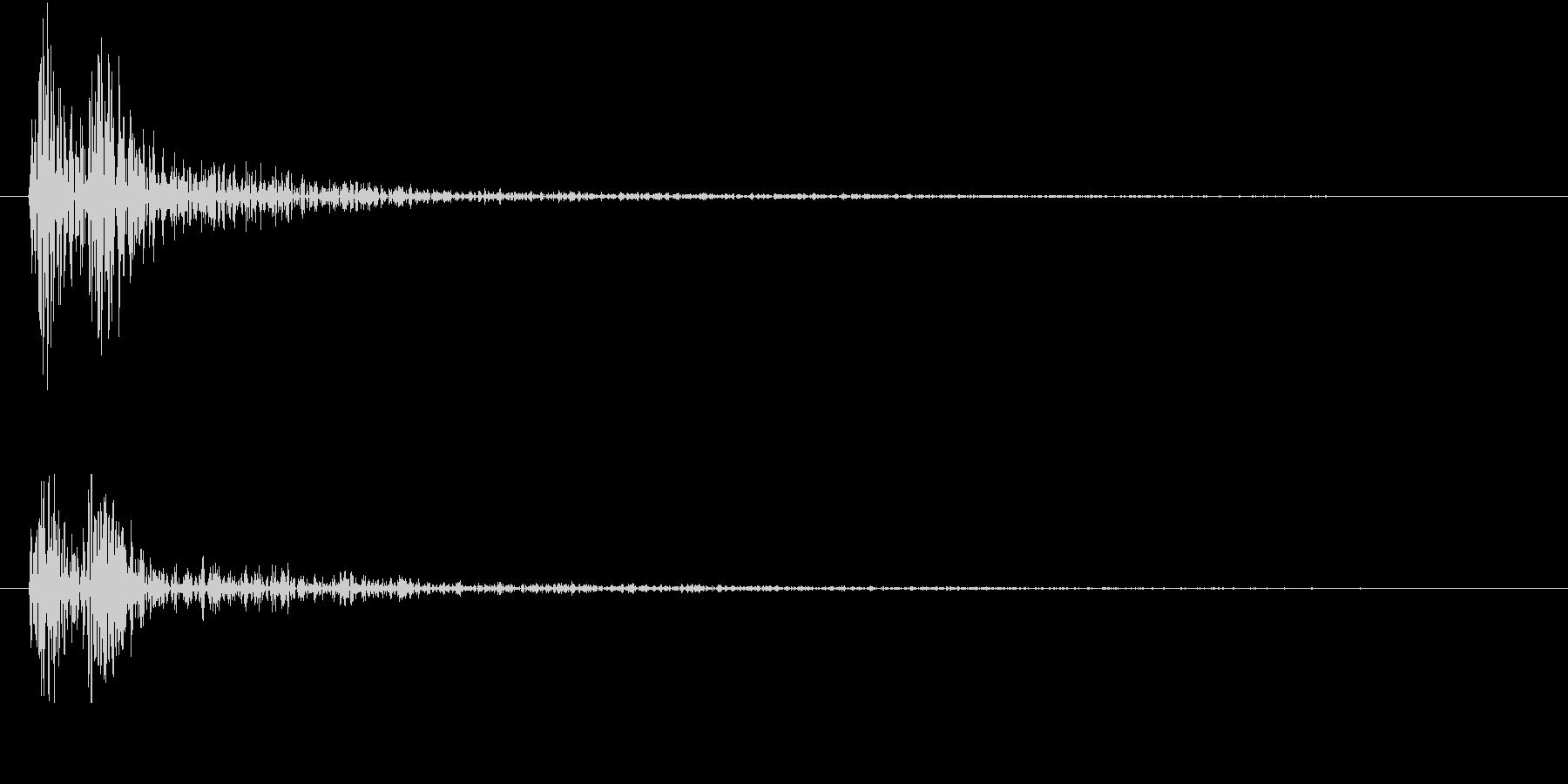 【生録音】お箸の音 13 箸同士が当たるの未再生の波形