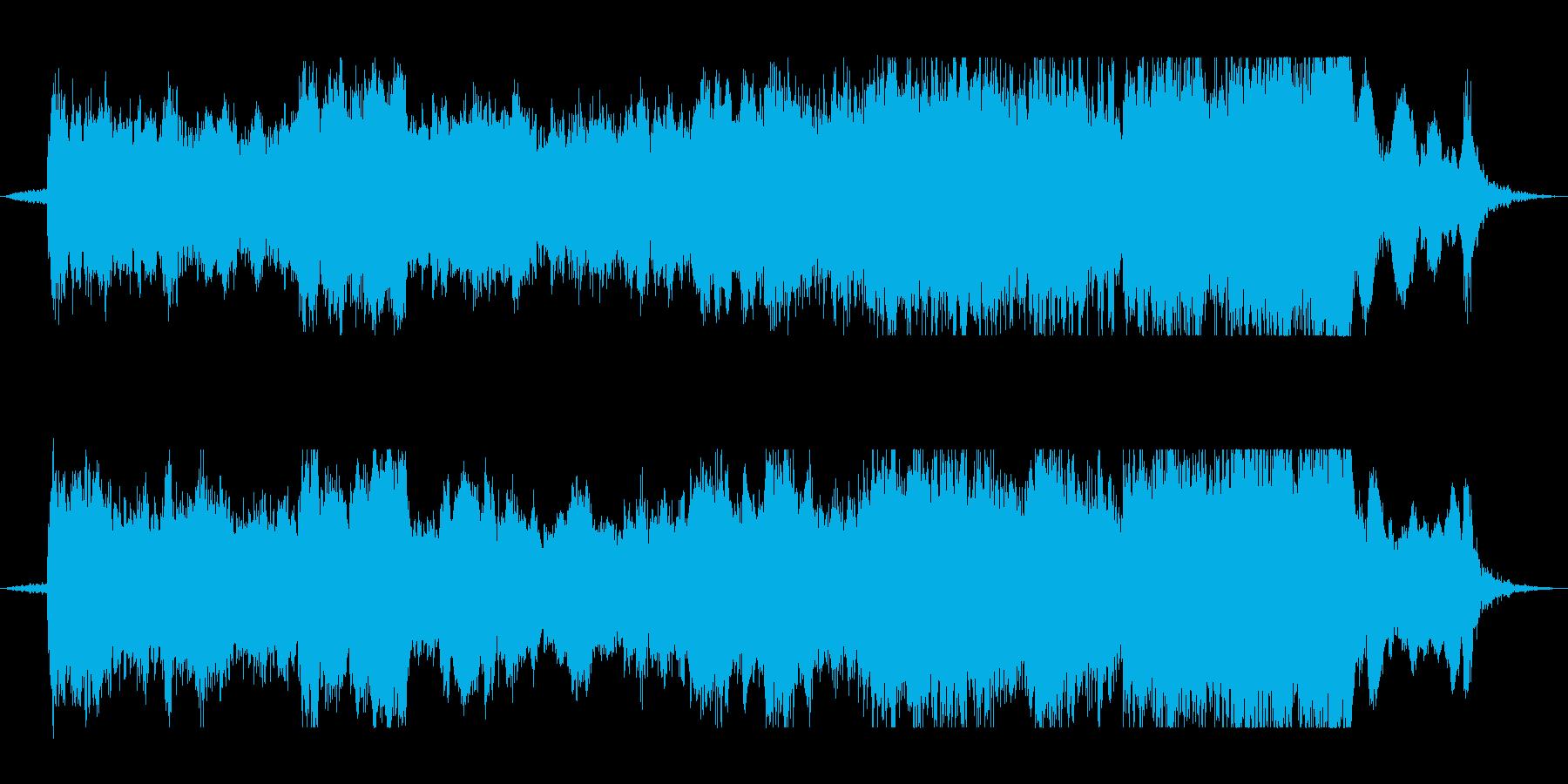日本の伝統的な雰囲気の曲の再生済みの波形