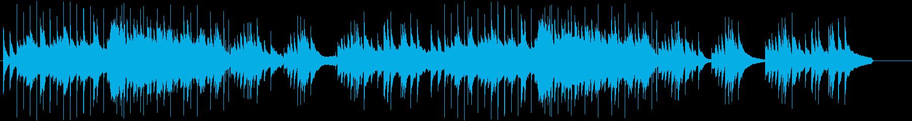 和風の落ち着いた琴と尺八の使いやすい曲の再生済みの波形