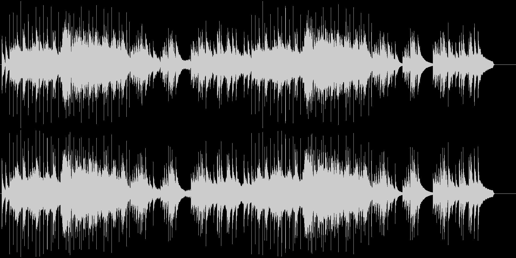 和風の落ち着いた琴と尺八の使いやすい曲の未再生の波形
