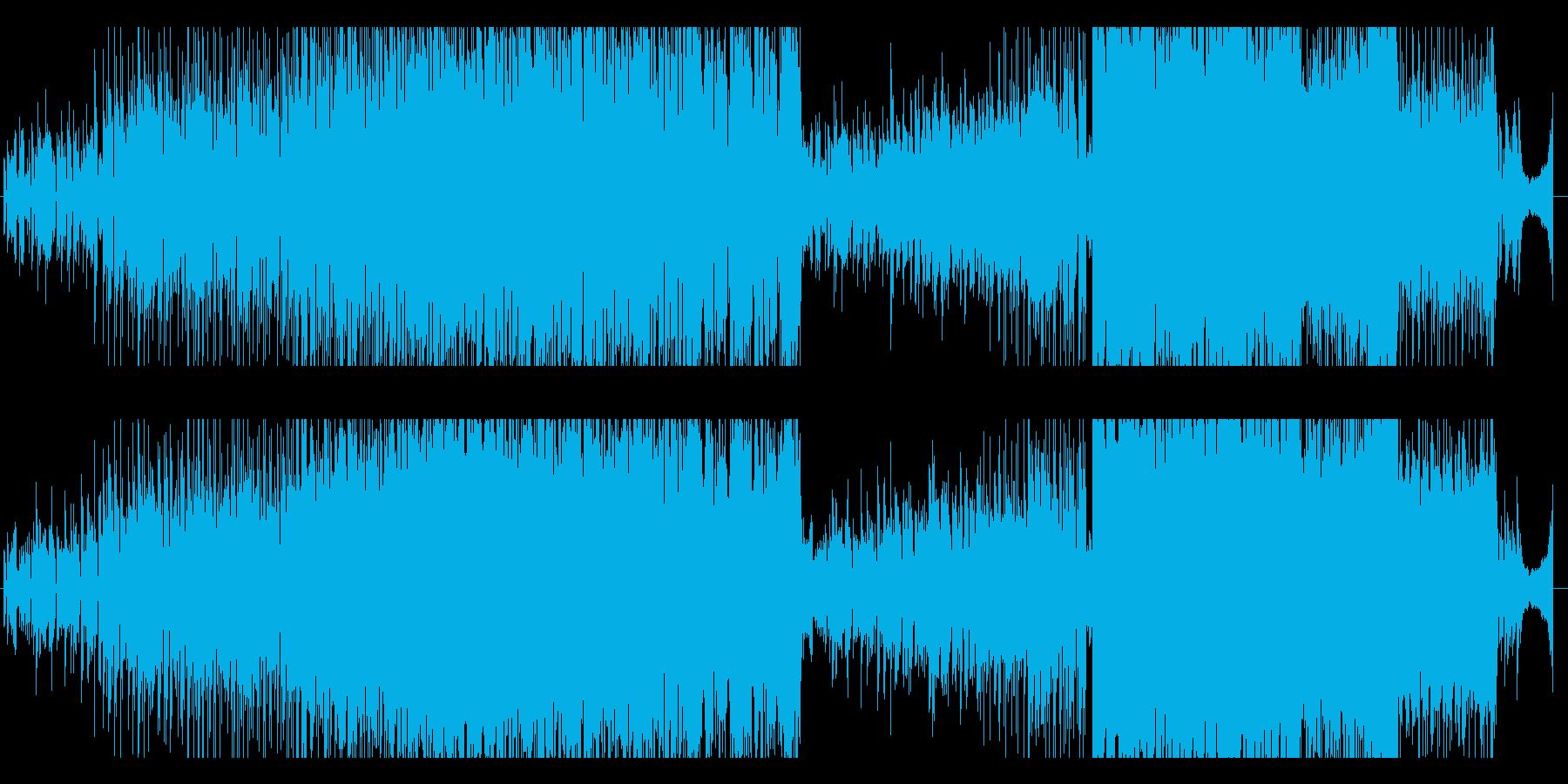 ポップで明るく可愛いフューチャーベース曲の再生済みの波形