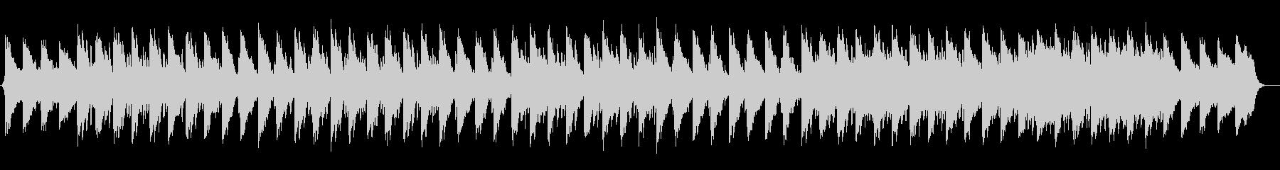 ゆったり涼しげなシンセサイザーサウンドの未再生の波形
