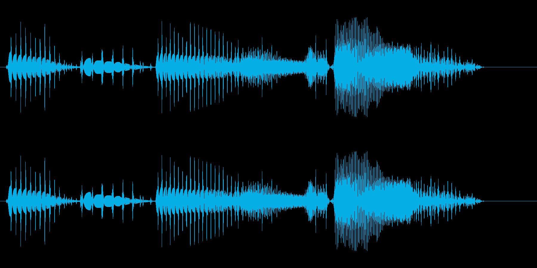 みょんみょんみょん (縮むような音)の再生済みの波形