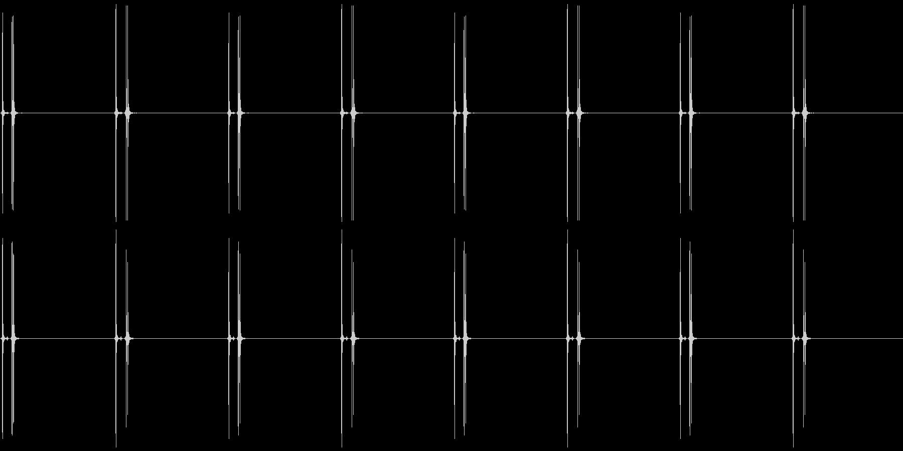 時計の秒針 ゼンマイ系C カチリ、カチリの未再生の波形