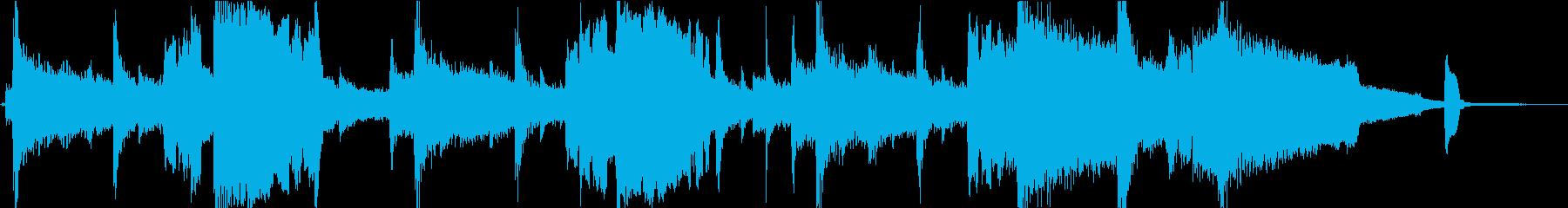 哀愁のジャズトランペットジングルの再生済みの波形