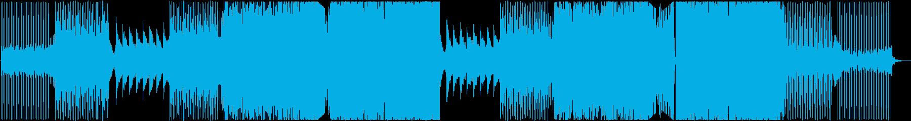 エモーショナルなEDMの再生済みの波形