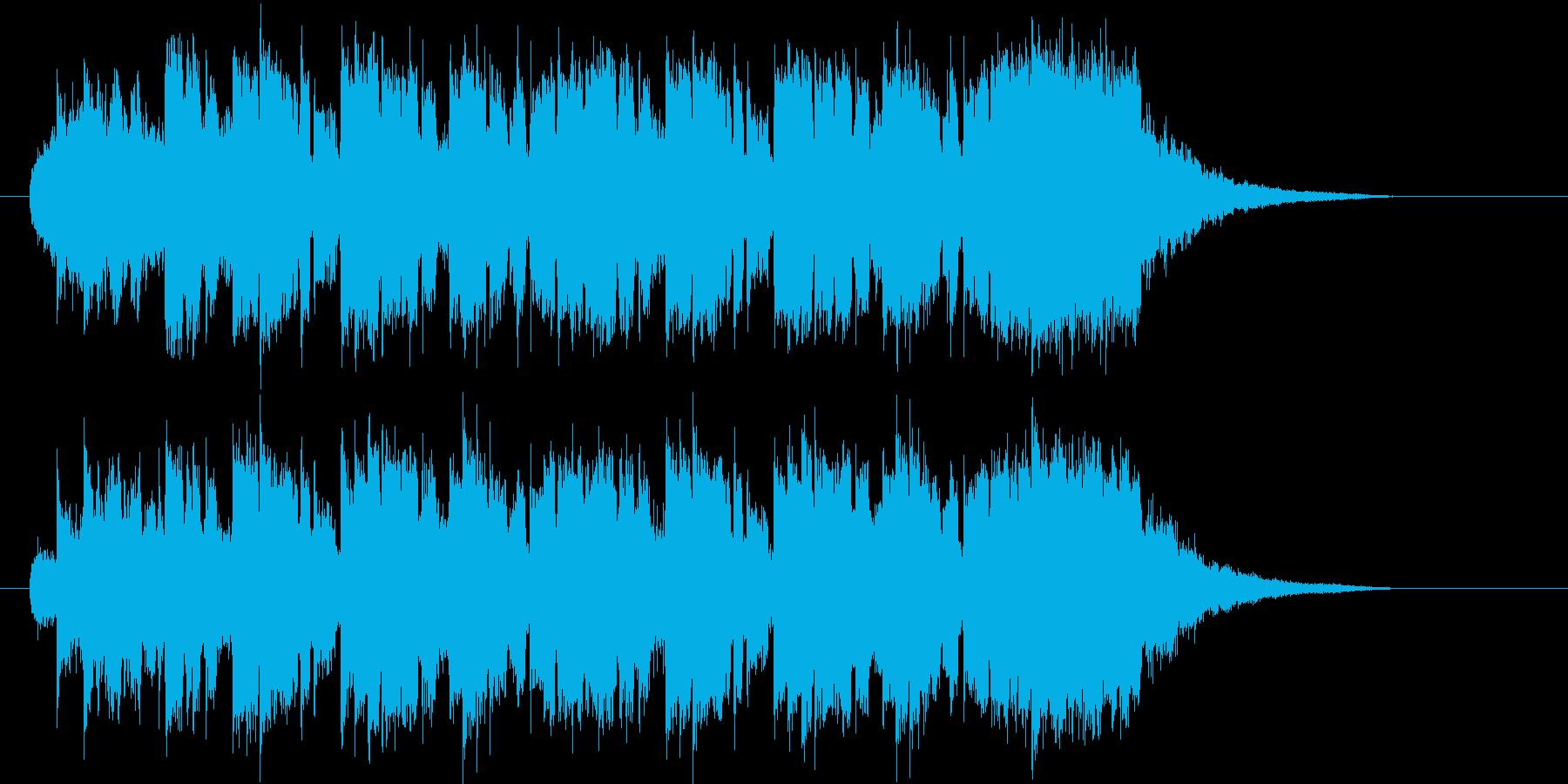 ピアノがさわやかで疾走感あるシンセポップの再生済みの波形