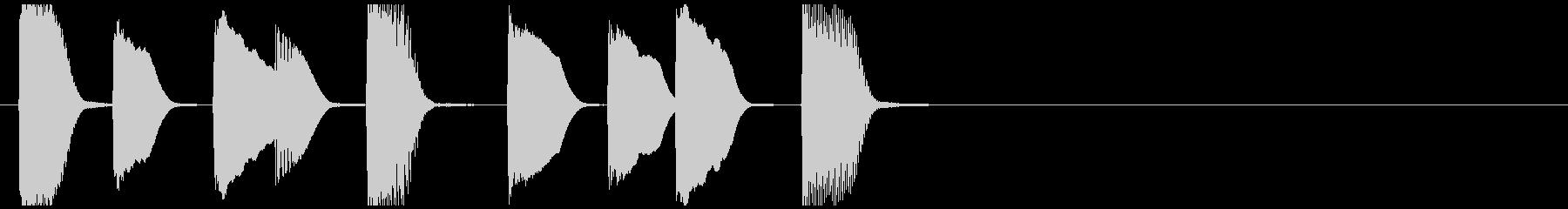 CM、フレーズ系ピアノジングルの未再生の波形