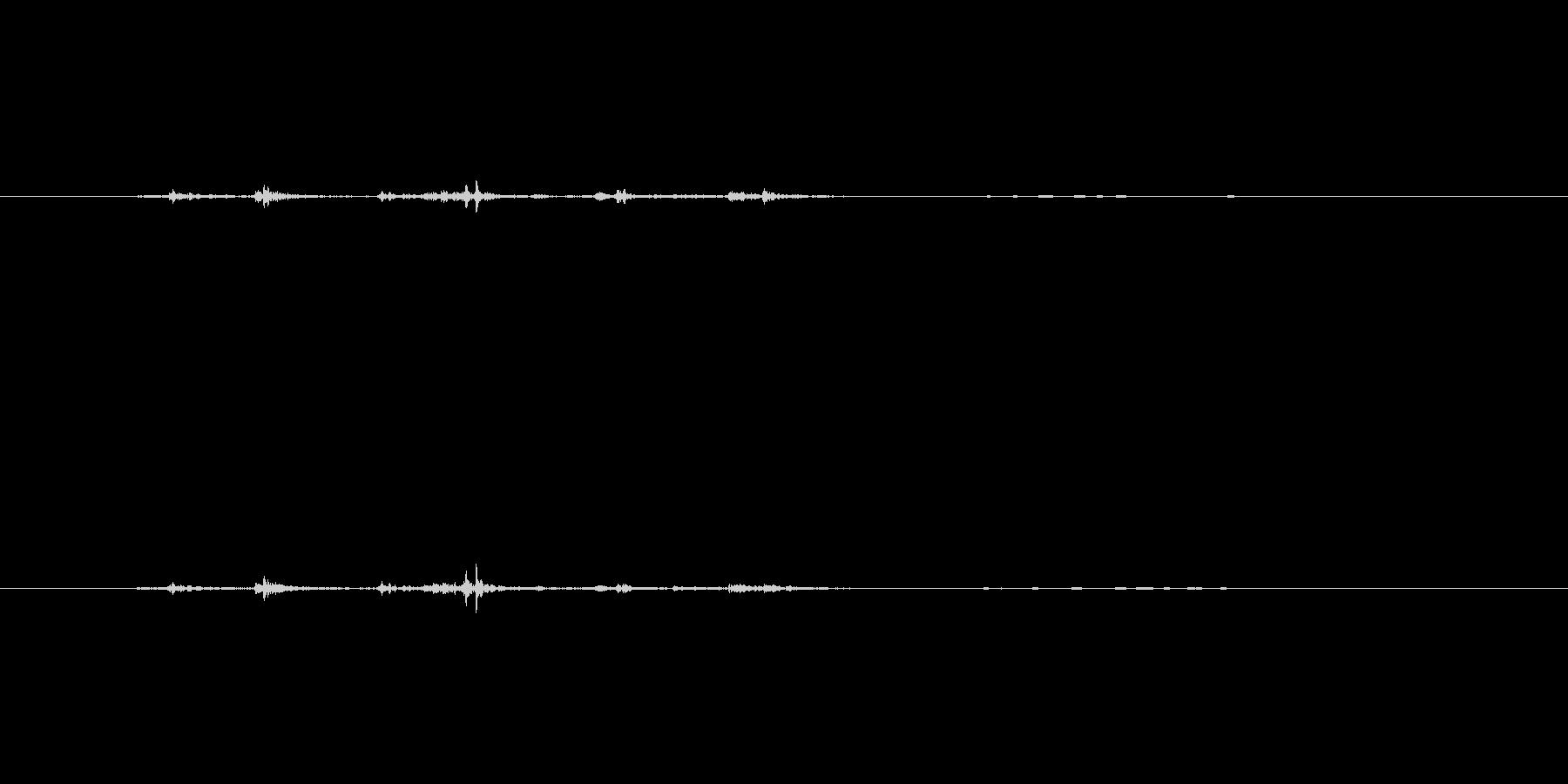 ガチャ(ドアが開く音)の未再生の波形