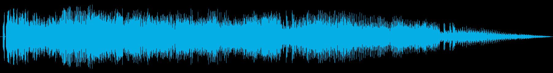 迫力あるレース/車のエンジン効果音です2の再生済みの波形