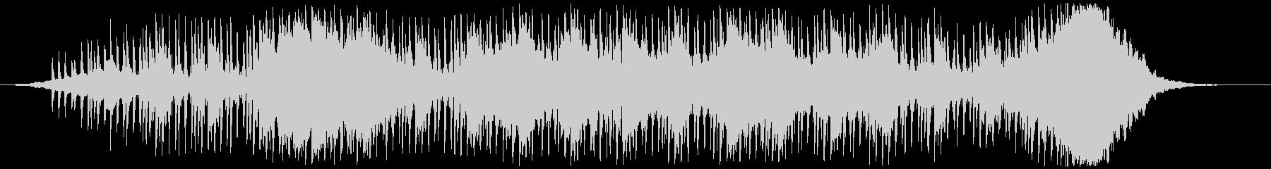 ヘビーなエレクトロニカの未再生の波形