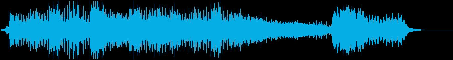 近未来・SF系の景色に合うBGMの再生済みの波形