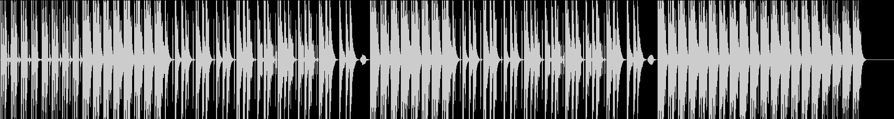 お洒落で綺麗なメロのHIPHOP、R&Bの未再生の波形