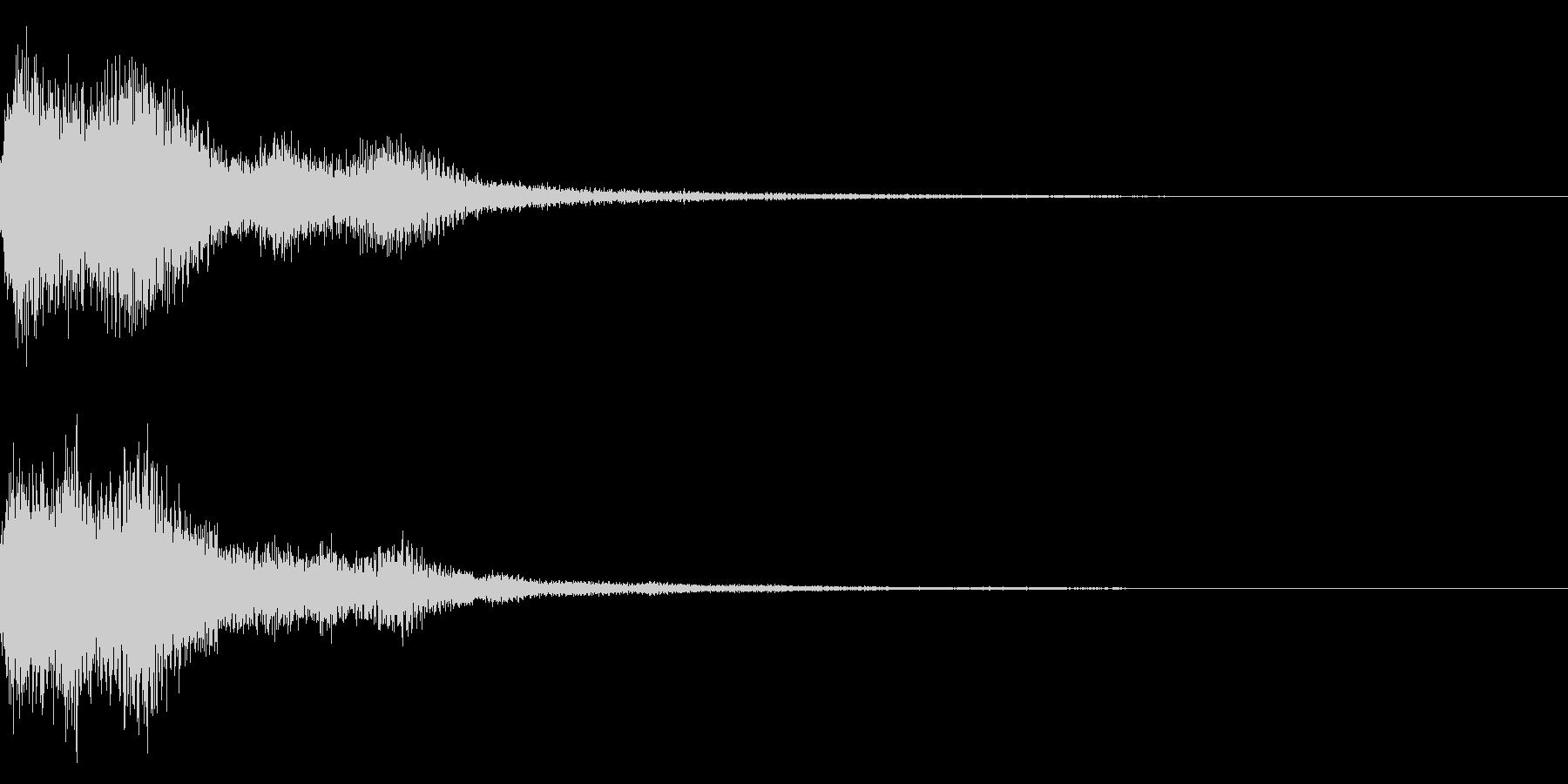 テロップ音(映像、ニュース、報道など)2の未再生の波形