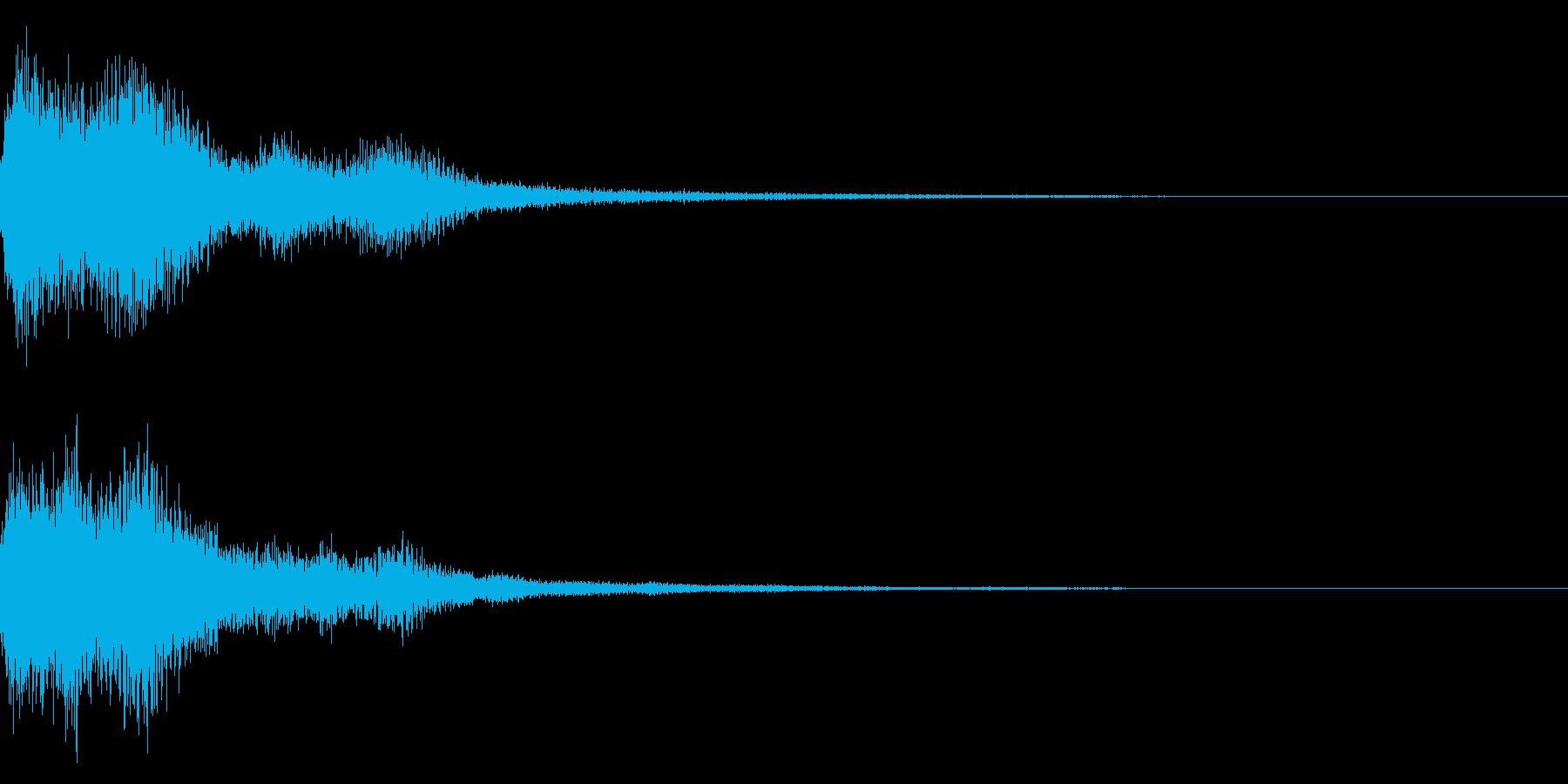 テロップ音(映像、ニュース、報道など)2の再生済みの波形